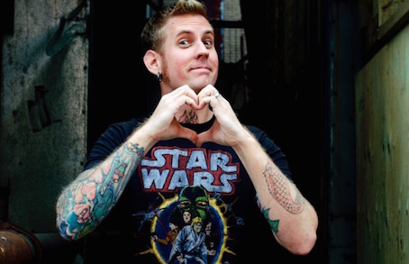 Brann Dailor of Mastodon editorial portrait at Le National in Montreal on May 4th, 2009 © Steven Heinz Perreault.